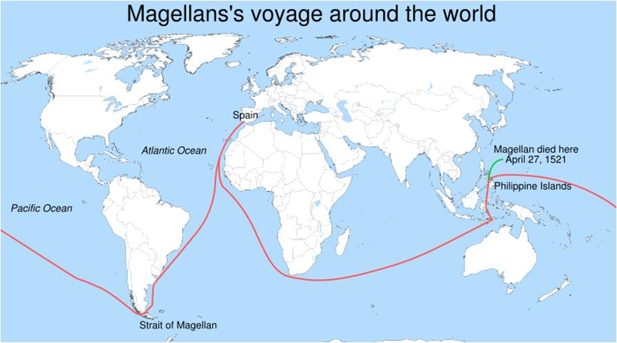 Juan Sebastián Elcano Ferdinand Magellan S Replacement: Amerika Australia