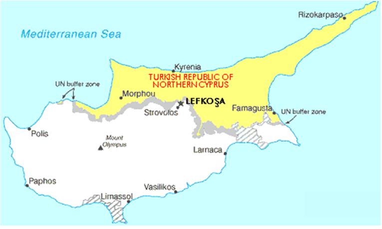 nord kypros kart Asia Afrika   Ky.a nord kypros kart