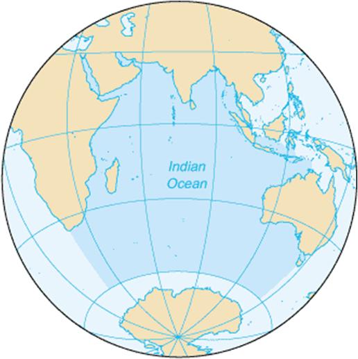 indiahavet kart Asia Afrika   Syd Asia indiahavet kart