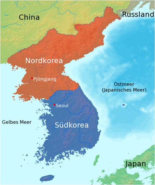 kart over nord og sør korea Asia Afrika   Sø.e kart over nord og sør korea