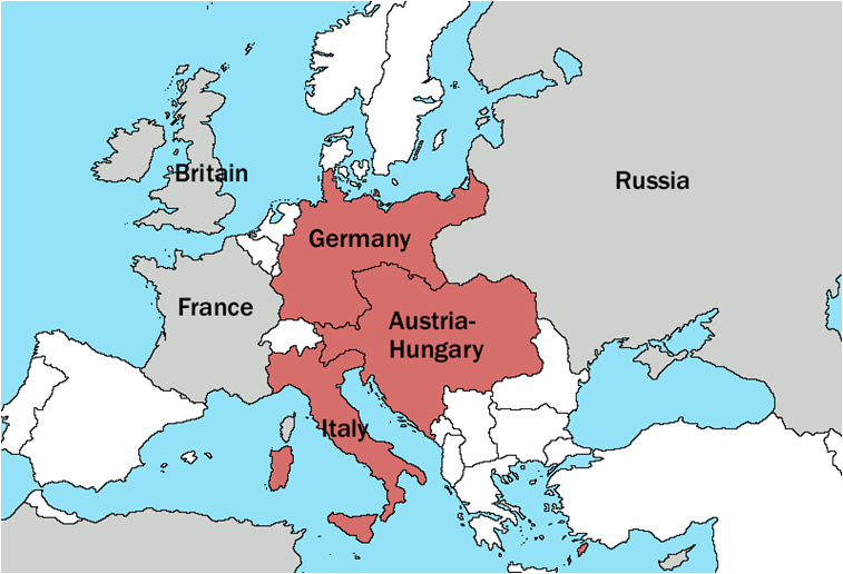 kart over tyskland og østerrike Europa   HHist.d kart over tyskland og østerrike