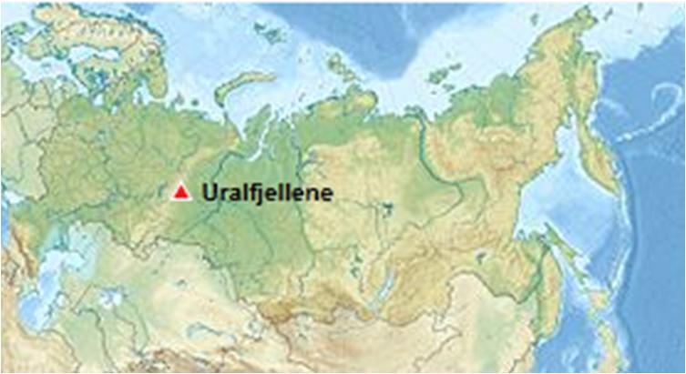 uralfjellene kart Europa   Russ.f uralfjellene kart