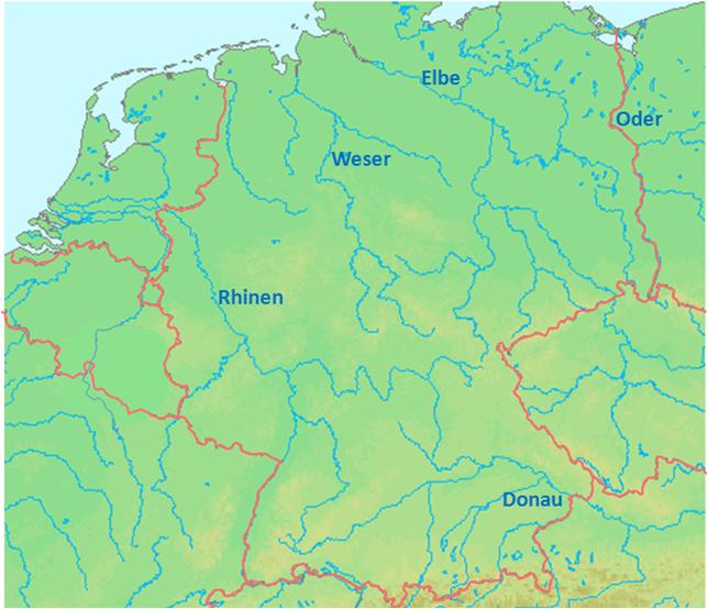 elver i europa kart Europa   Elver elver i europa kart