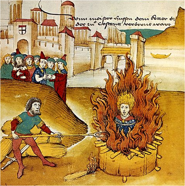 brent på bålet