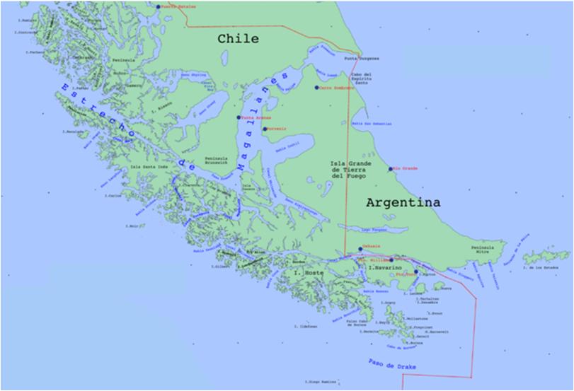 magellanstredet kart Historie,religion,kunst   O2.b magellanstredet kart