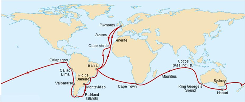 Reisen til darwin med skipet beagle