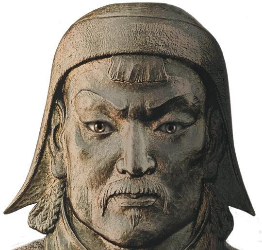Genghis khan var leder for mongolene 1206-1227