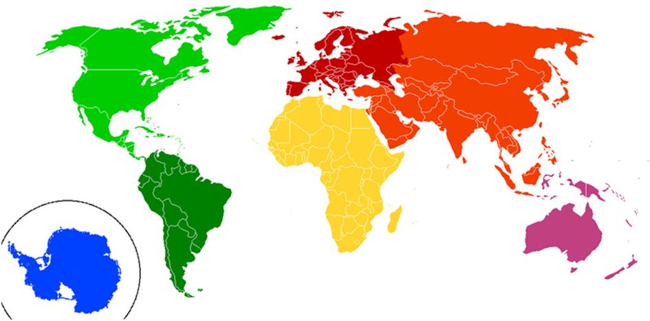 verdensdeler kart Verdensrommet   Geografi 1 verdensdeler kart