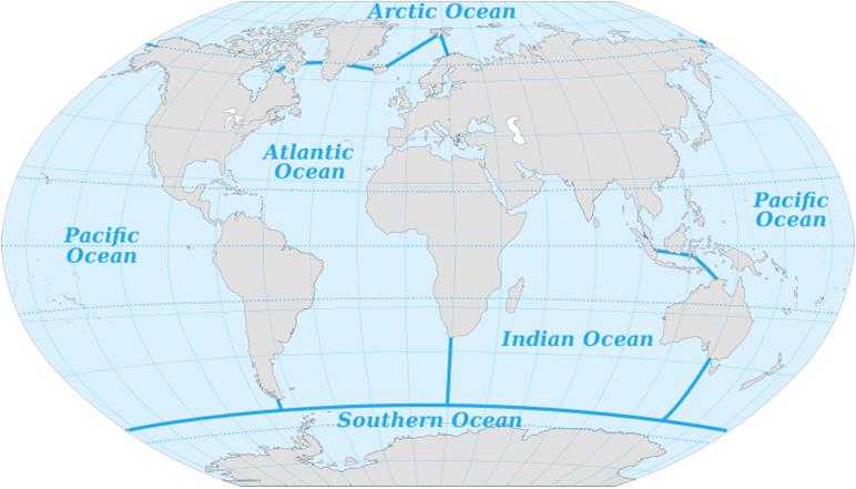 verdens hav kart Verdensrommet   Geografi 1 verdens hav kart