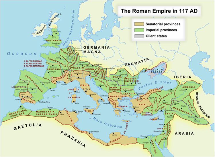 romerriket kart Verdensrommet   Kol.a romerriket kart